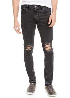 Guess Men's Released Hem Ripped Skinny Jeans