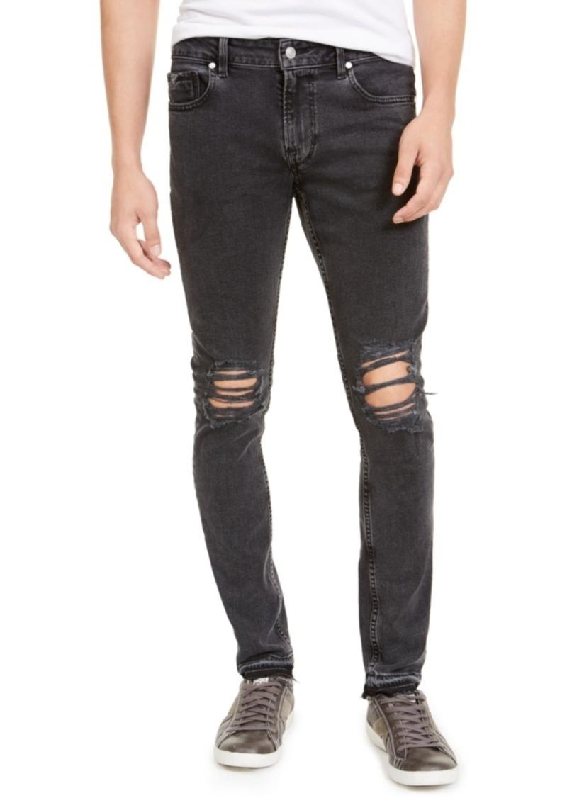 Guess Men's Released Hem Ripped Skinny Jeans