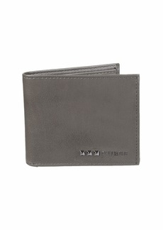 Guess Men's RFID Security Blocking Leather Wallet gray