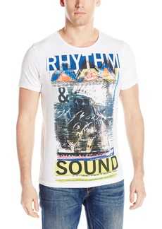 GUESS Men's Rhythm Sound T-Shirt True White A
