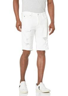 GUESS Men's Ripped Denim Shorts