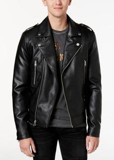 Guess Men's Robertson Aces Moto Jacket