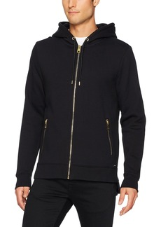 GUESS Men's Roy Embroidered Long Line Hood Sweatshirt  XXL