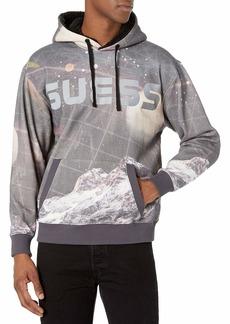 GUESS Men's Roy Fleece Space Hoodie