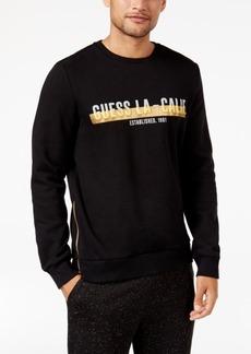 Guess Men's Roy Metallic Logo Side-Zip Sweatshirt