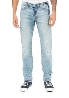 Guess Men's Selvedge Slim-Straight Destroyed Jeans
