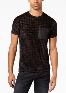 Guess Men's Sheer Geometric Zip Pocket T-Shirt