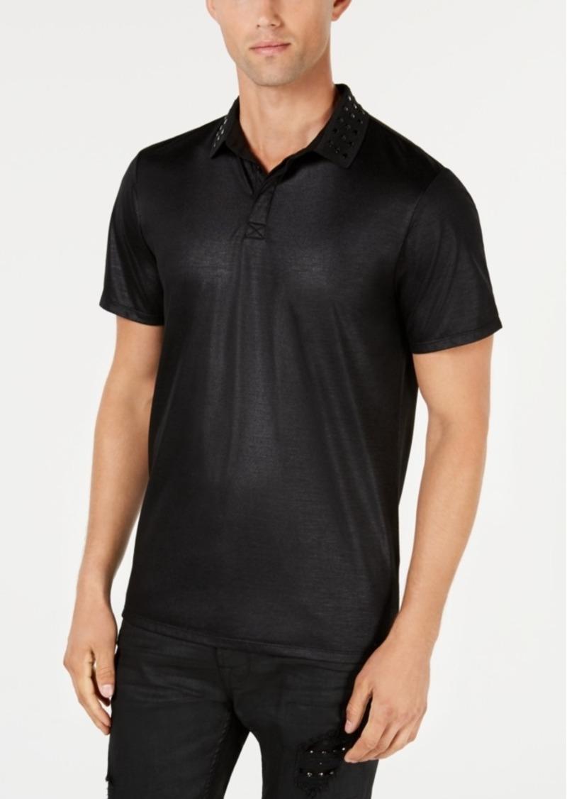 Guess Men's Shiny Stud-Collar Polo