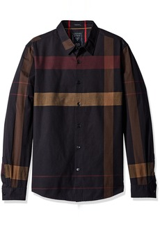 GUESS Men's Canyon Plaid Shirt  M