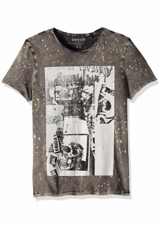 Guess Men's Short Sleeve Acid Skulls Crew Neck T-Shirt  L