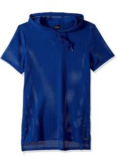 GUESS Men's Short Sleeve Alder MESH Hoodie  XL