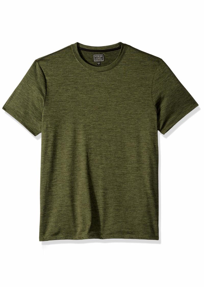 GUESS Men's Short Sleeve Avalon Spacedye Shirt  XL