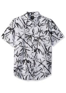 GUESS Men's Short Sleeve Bamboo Print Shirt Scuffy S