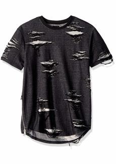 Guess Men's Short Sleeve Basement Crew Neck Shirt  L