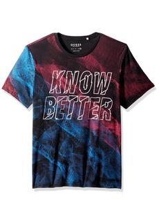 GUESS Men's Short Sleeve Basic Know Better Crew Tee  XXL