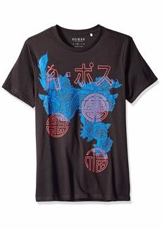GUESS Men's Short Sleeve Basic Phoenix Crew T-Shirt  XL