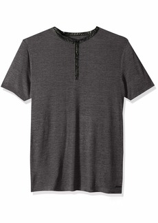 GUESS Men's Short Sleeve Clayton Henley  L