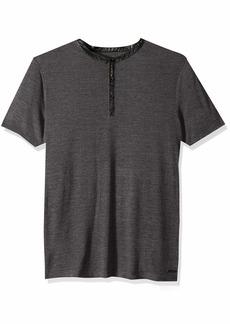 GUESS Men's Short Sleeve Clayton Henley  S