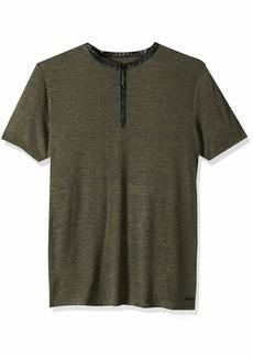 GUESS Men's Short Sleeve Clayton Henley  XL