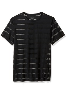 GUESS Men's Short Sleeve Crow Stripe Crew  M