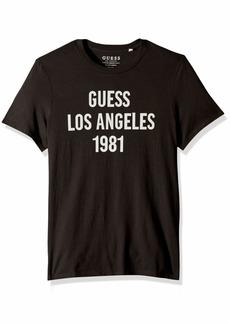 GUESS Men's Short Sleeve Easy Logo Crew Neck T-Shirt  XL