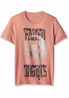 GUESS Men's Short Sleeve Faded NIGHTST-Shirt  L