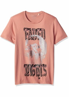 GUESS Men's Short Sleeve Faded NIGHTST-Shirt  M