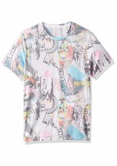 GUESS Men's Short Sleeve Graffiti Crew Neck T-Shirt  M