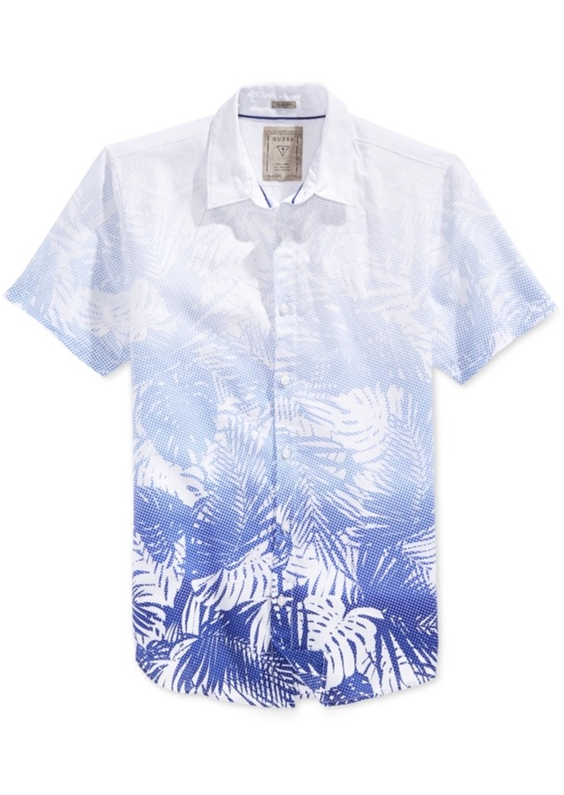 Guess Men's Short-Sleeve Graphic-Print Shirt