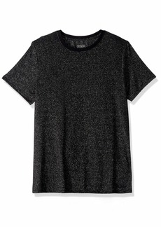 GUESS Men's Short Sleeve Imperial Metallic Crew Neck Shirt  L