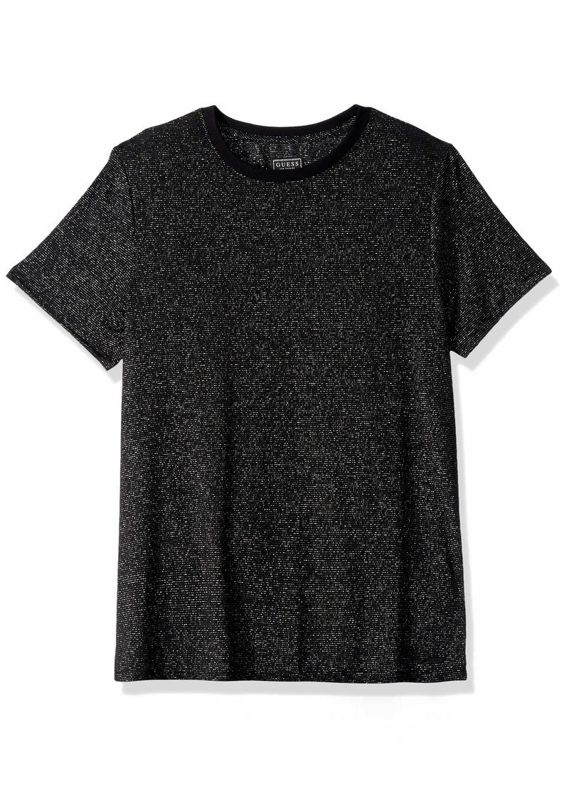 GUESS Men's Short Sleeve Imperial Metallic Crew Neck Shirt  XL