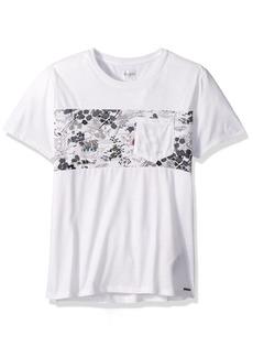 GUESS Men's Short Sleeve Mason Shine Paneled Shirt  XL