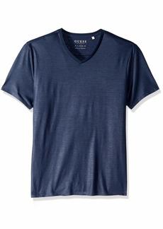 GUESS Men's Short Sleeve Mason Yoke V Neck Tee  S
