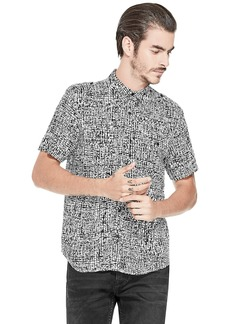 GUESS Men's Short Sleeve Painted Check Shirt