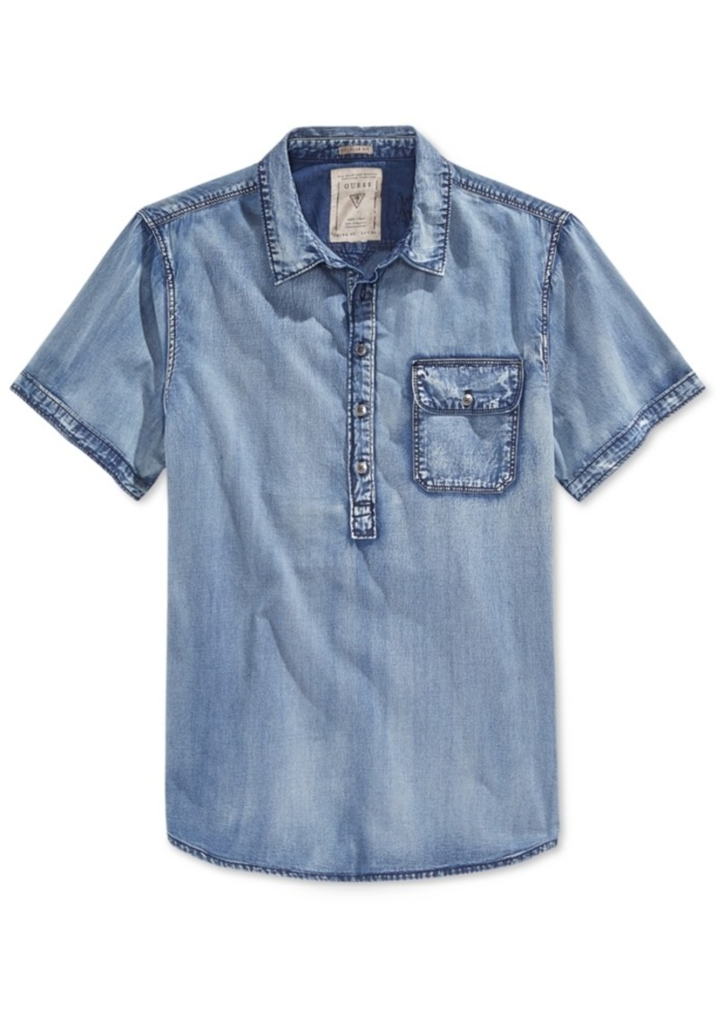 Guess Men's Short-Sleeve Pop-Over Shirt