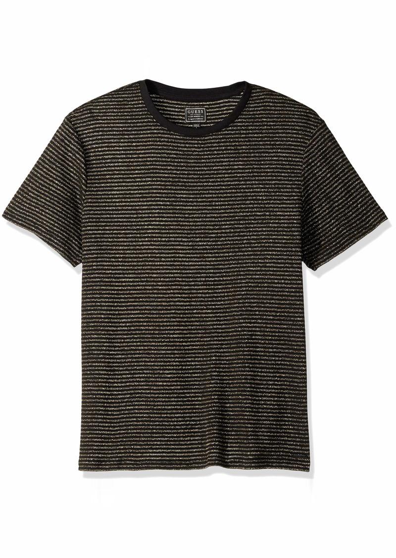 GUESS Men's Short Sleeve Satellite Crew Neck Shirt  S