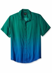 Guess Men's Short Sleeve Seaside Ombre Print Shirt  XL