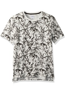 GUESS Men's Short Sleeve Stream Bamboo Print Crew Scuffy XL