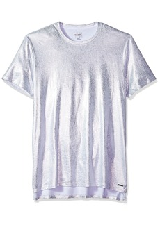 GUESS Men's Short Sleeve Stream Foil Crew