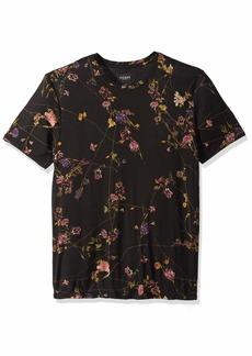 GUESS Men's Short Sleeve Viscose Crew Neck Shirt  XL