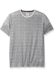 GUESS Men's Short Sleeve Wynn Ethnic Geo Print Crew White XXL