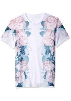 GUESS Men's Short Sleeve Wynn Floral Print Crew  XXL