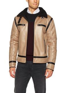 GUESS Men's Sierra Shearling Jacket  XXL