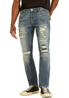 Guess Men's Skinny-Fit Eco Destroyed Jeans