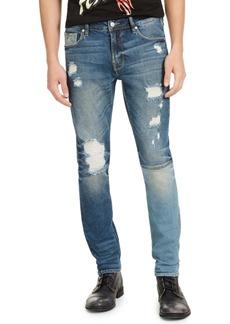 Guess Men's Skinny-Fit Paneled & Destroyed Indigo Jeans