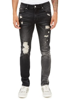 Guess Men's Skinny-Fit Paneled & Destroyed Jeans