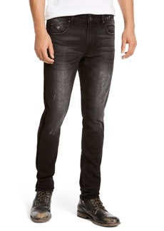 Guess Men's Skinny-Fit Stretch Taped Destroyed Jeans