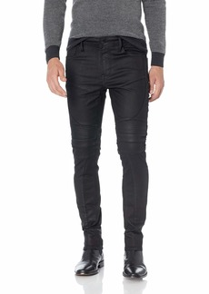 GUESS Men's Skinny Free Form Moto Jean Mechanical Black wash 33
