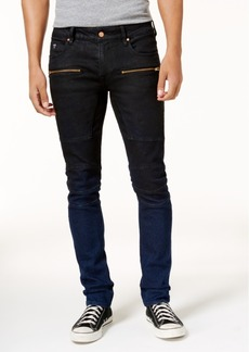 Guess Men's Skinny Zip Moto Jeans