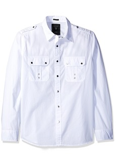 GUESS Men's Skull Print Shirt True White A L
